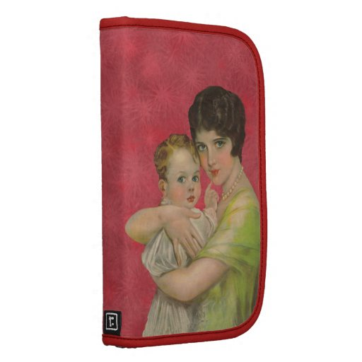 Vintage 1930's Mother Holding Baby Mother's Day Organizer