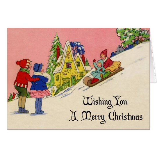 Vintage 1930s Art Deco Christmas Card