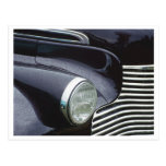 Vintage 1930s Classic Car Grill Photo Post Card