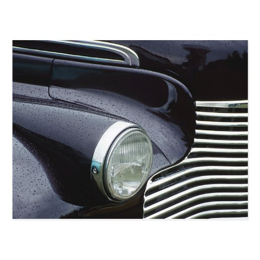 Vintage 1930s Classic Car Grill Photo Postcards