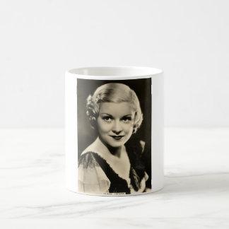 Vintage 1930s Film Star Pinup Basic White Mug