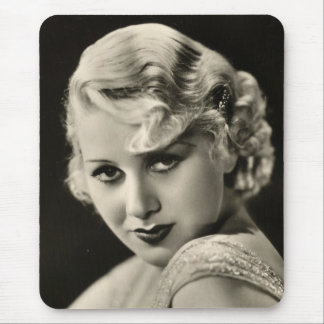 Vintage 1930s Film Star Pinup Mouse Pad