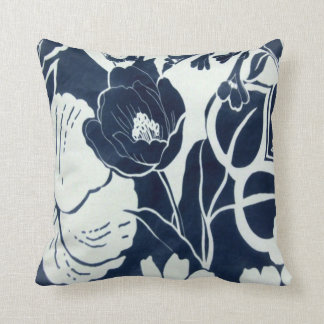 Vintage 1930s Floral Print Throw Pillow