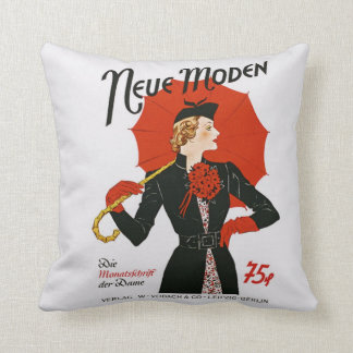 Vintage 1930s German Magazine Cover Neue Moden Cushion