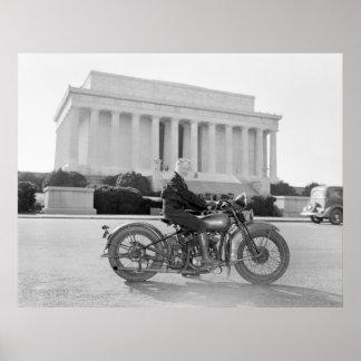 Vintage 1930s Motorcycle Mama Print