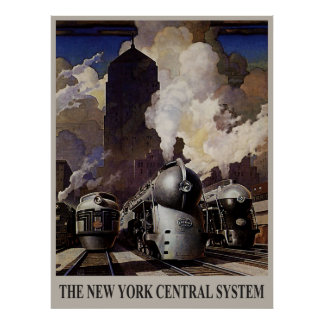 Vintage 1930's - New York Central System Poster