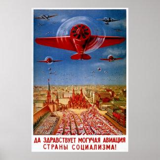 Vintage 1930's Soviet Propaganda Poster