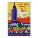 Vintage 1933 Chicago Worlds Fair Posters