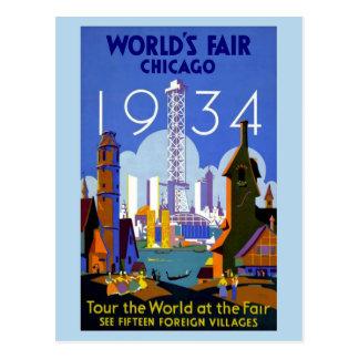 vintage 1934 Chicago World's fair Postcards