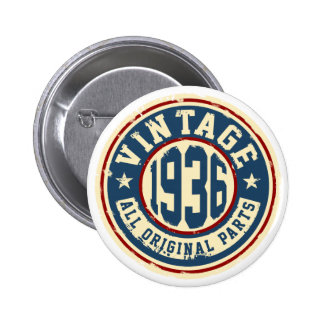 Vintage 1936 All Original Parts 6 Cm Round Badge
