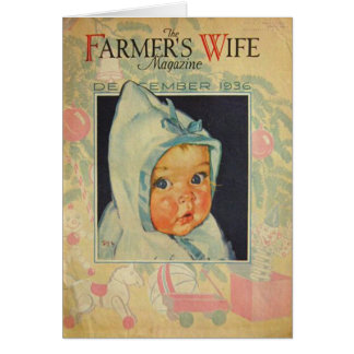 Vintage 1936 Birthday Magazine Cover Personalized Greeting Card