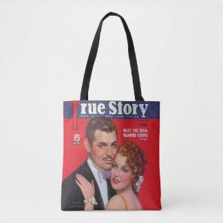 Vintage 1936 Clark Gable & Jeanette MacDonald Tote