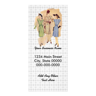 Vintage 1940s Fashion Full Color Rack Card