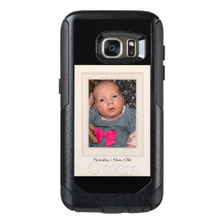 Vintage 1940s Mat with Customizable Photo Insert OtterBox Samsung Galaxy S7 Case