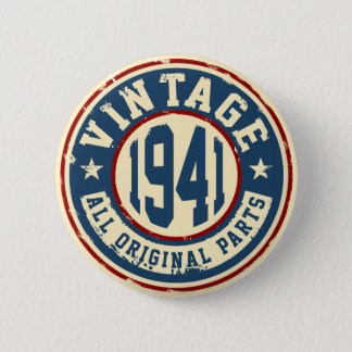 Vintage 1941 All Original Parts 6 Cm Round Badge