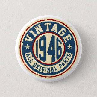 Vintage 1946 All Original Parts 6 Cm Round Badge