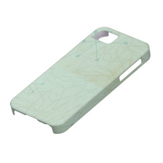Vintage 1950s Atomic Age Pattern iPhone Case Case For The iPhone 5