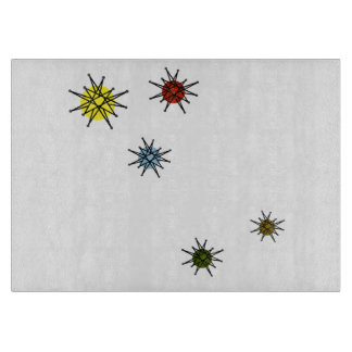 Vintage 1950's Atomic Starburst Cutting Board
