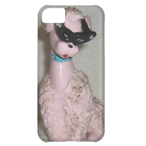 Vintage 1950s Pink Poodle with Sun Glasses Bling iPhone 5C Cover