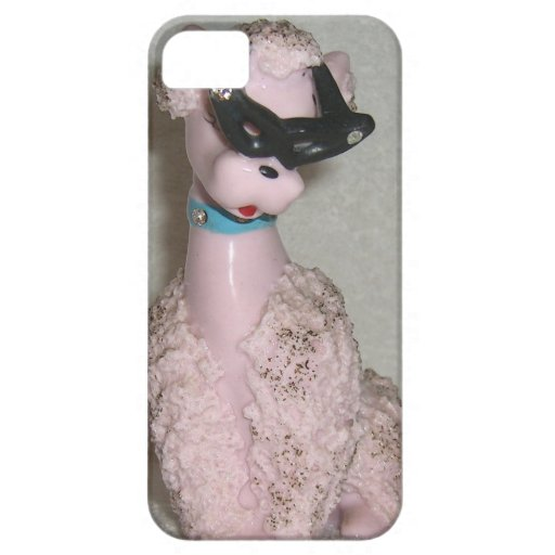 Vintage 1950s Pink Poodle with Sun Glasses Bling iPhone 5 Cover