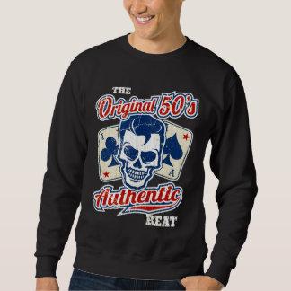 Vintage 1950s Rockabilly Skull with Aces Sweatshirt