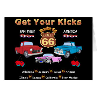 Vintage 1950s  Route 66 Greeting Card