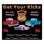 Vintage 1950s  Route 66 Posters