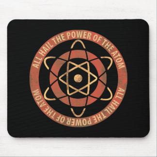 Vintage 1950's Sci-Fi Atomic Power Logo Mouse Pad