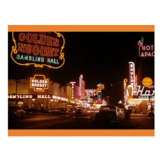Vintage 1952 Las Vegas Golden Nugget Postcard