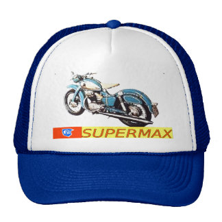 """Vintage 1953-NSU SUPERMAX Motorcycle Ad"" Cap"
