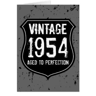 Vintage 1954 aged to perfection greeting card men