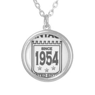 Vintage 1954 birth day limited t shirt.png necklace