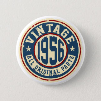 Vintage 1956 All Original Parts 6 Cm Round Badge