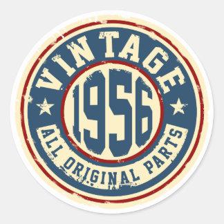 Vintage 1956 All Original Parts Round Sticker
