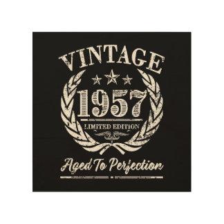 Vintage 1957 - 60th Birthday Wood Art