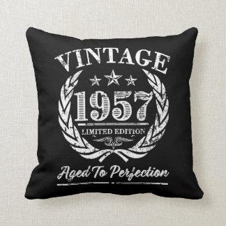 Vintage 1957 Pillow - 60th birthday