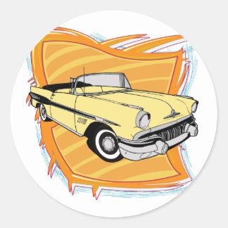 Vintage 1957 Pontiac Muscle Car Round Sticker