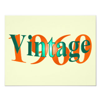 Vintage 1960 11 cm x 14 cm invitation card