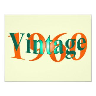 Vintage 1960 personalized invite