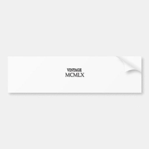 Vintage 1960 Roman Bumper Sticker