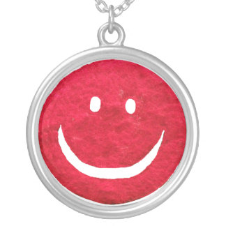 Vintage 1960s Furry Happy Face Necklace