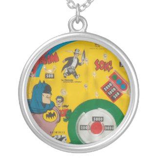 Vintage 1960s Toy Comic Book Hero Retro Art Charm Round Pendant Necklace
