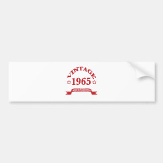 Vintage 1965 Aged to Paerfection Bumper Stickers