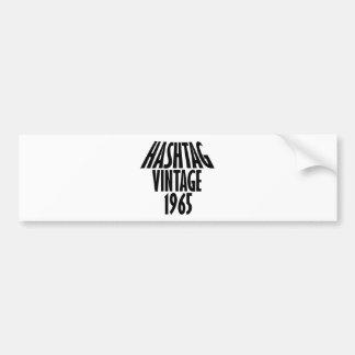 vintage 1965 designs bumper sticker