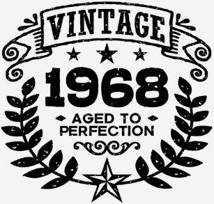 Vintage 1968 50th Birthday T Shirt