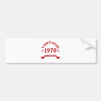 Vintage 1970 Aged to Paerfection Bumper Stickers