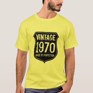 Vintage 1970 aged to perfection t shirt for men