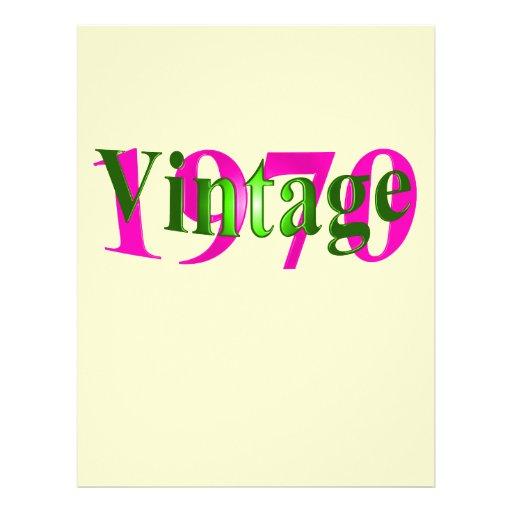 Vintage 1970 full color flyer