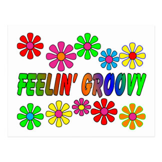 "Vintage 1970's ""Feelin' Groovy"" gifts Post Cards"