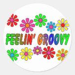 """Vintage 1970's """"Feelin' Groovy"""" gifts Sticker"""